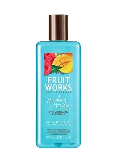 Fruit Works Fruit Works Rasberry & Mangol Duş Jeli 500 Ml Renksiz